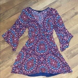 As U Wish deep V neck dress size small